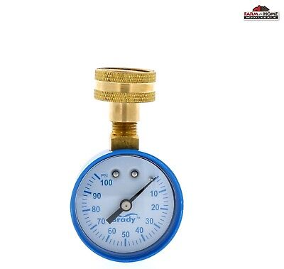 Water Pressure Test Gauge 0-100 Psi New Ships Fast