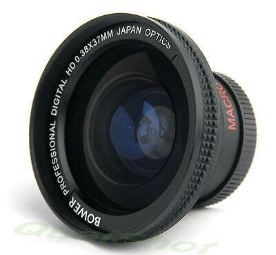 Soft .38x Wide Fisheye Lens For Panasonic Sdr-s150,vdr D220 Camcorder