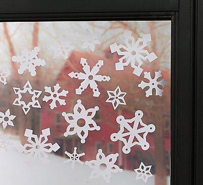 Snowflake Window Clings (69 pcs. per set) 1 1/2