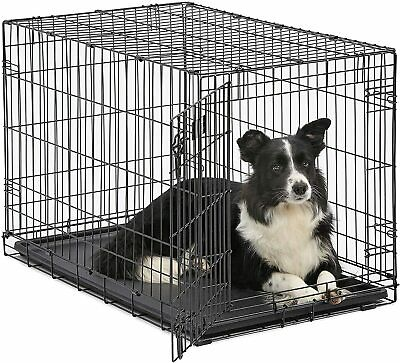 MidWest Homes for Pets Dog Crate iCrate Single Door Folding