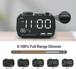 Digital Dual Alarm Clock & Radio with USB Charging Port - FREE SHIPPING