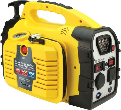 Rally 7471 Portable 8 in 1 Power Source And Jumpstart Unit w/ Hand Generator NEW