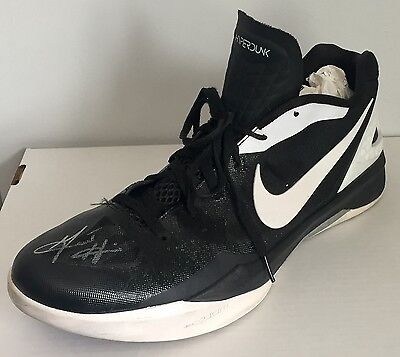 GRANT HILL AUTOGRAPH AUTO SIGNED GAME WORN   USED NIKE SHOE SNEAKER w COA !  SUNS d9a584341
