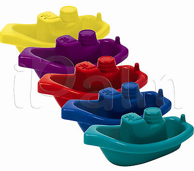 5 X BABY FLOATING CHILDRENS KIDS BATH TUB TIME PLAY PLASTIC BOATS TOYS
