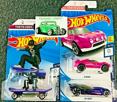 Hot Wheels - Lot of 3 - TOKYO 2020 Olympics - Skate Grom Hi Beam Sky Dome - C159