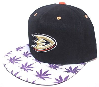 Anaheim Mighty Ducks Purple Haze / Weed Brim Mitchell & Ness SnapBack