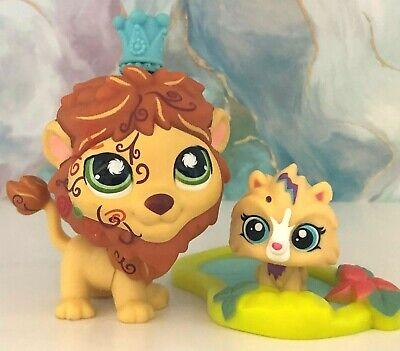 Littlest Pet Shop #944 LION Postcard Mini BABY CROWN POND Accessories Lot LPS