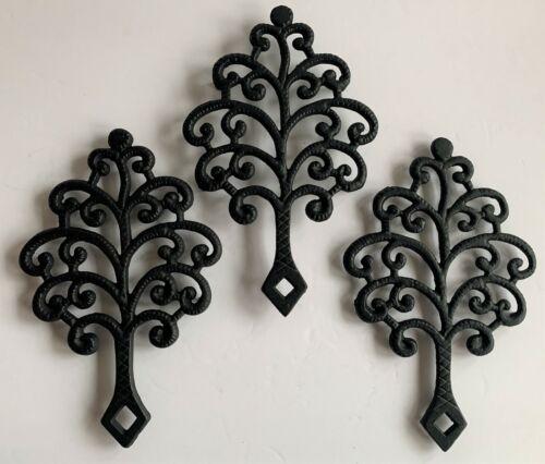 (3) Vintage TREE OF LIFE Cast Iron  Kitchen Trivet ~ Buy it Now