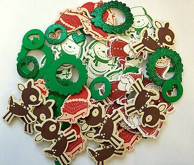 50 Christmas Self Adhesive Foam Shapes Stickers Teacher Supply Snowman Santa