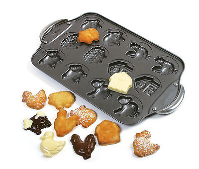 Norpro 3967 Animal Farm Cookie Candy Pan 12 Molds Nonstick on sale