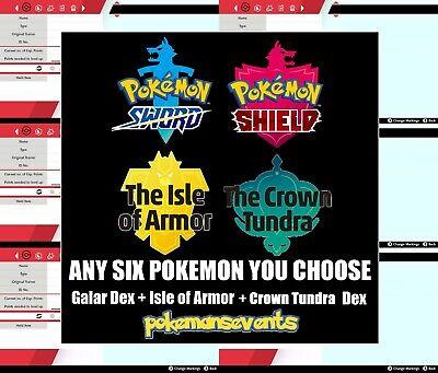 Pokemon Sword/Shield - Bundle of 6 Pokemon Galar + Isle of Armor + Crown Tundra