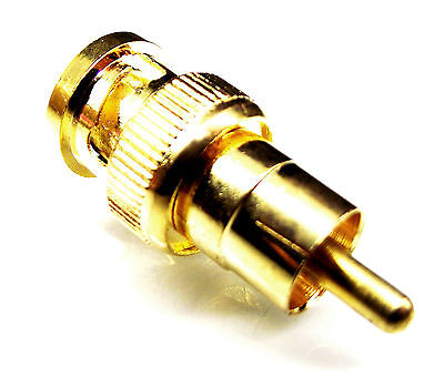 From OZ Quality 1PC RCA Male to BNC Male Plug Adaptor Connector Coax + FREE POST Free Bnc Rca Connectors