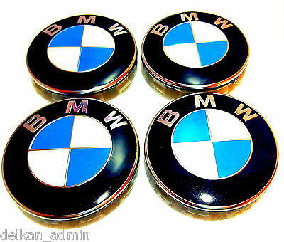 4x BMW 68MM Centre Wheel Caps Suit all BMW Models with Genuine OEM Alloy wheels