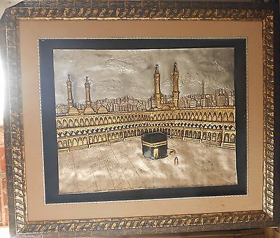 "Islamic Muslim resin frame "" Al Kaaba""  / Gold & silver for sale  Paterson"