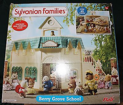 Sylvanian Families Berry Grove School and Accessories  Boxed