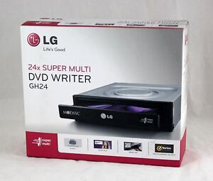 LG Internal SATA 24x DVD CD +/-R & RW DL Disc Burner Re-Writer Drive - Retail