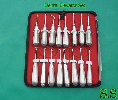 Set Of 18 Dental Apical Root Elevators Surgical Instruments