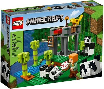 Lego Minecraft 21158 The Panda Nurser Building Playset New Kids Gift Toy Set