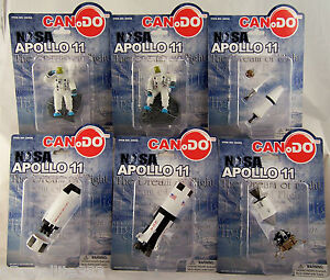 Can.Do NASA APOLLO 11 COMPLETE SET OF 6 Saturn V Columbia Eagle Astronauts NEW!