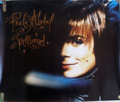 RARE PAULA ABDUL SPELLBOUND 1991 VINTAGE ORIG MUSIC RECORD STORE PROMO POSTER