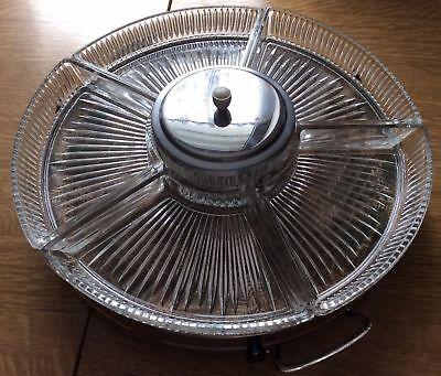 Zwei alte Tortenplatten eine drehbar  mit Konfektschalen und Glasdose mit Deckel ()