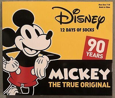 Disney MICKEY MOUSE 12 DAYS OF SOCKS Advent Countdown Calendar - Kids Size 7-10 - Countdown Calendar Days