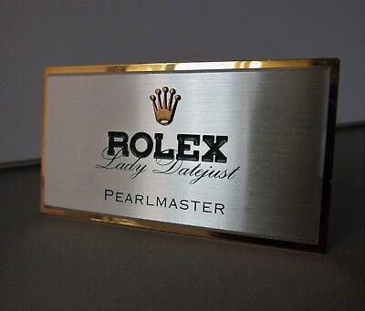 Original ROLEX STORE DISPLAY BRASS & METAL LADY DATEJUST PEARLMASTER SWISS MADE