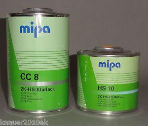 1,5L Klarlack SET MIPA  ( 2K-HS-CC8 Lack  incl. Härter HS10 kurz lufttrocknung)