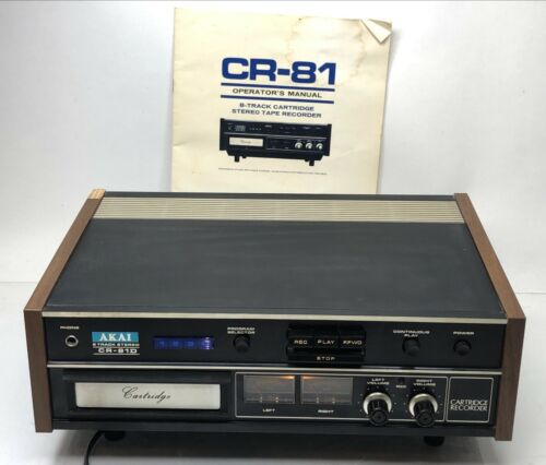 Vintage AKAI CR-81D 8 Track Tape Recorder Stereo Player Original Manual *TESTED*