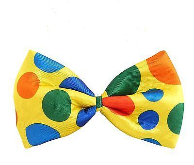 JUMBO BOW TIE SPOOTY POLKA DOT FANCY DRESS ACCESSORY CLOWN  FANCY PARTY NIGHT Bow Tie Jumbo Polka Dot