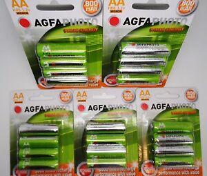 20 X Aa Solar Garden Light Agfa Rechargeable Batteries 800mah Ebay