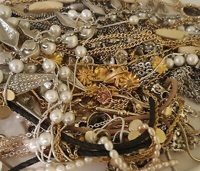 💥ESTATE VINTAGE MODERN JEWELRY LOT NECKLACES EARRINGS RINGS READY TO WEAR 5 pc