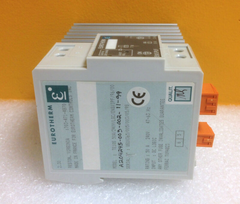 Eurotherm TE10S 50A/24V/LGC/ENG/IPF/96/00 50 Amp, 240 V, Solid State Contactor
