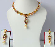 Gold Plated Bollywood Necklace