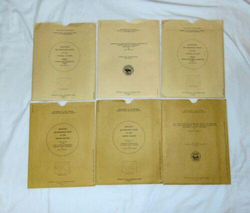 Lot of 6 Vintage US Geological Survey Maps, Charts, Etc., 1955 & 1973