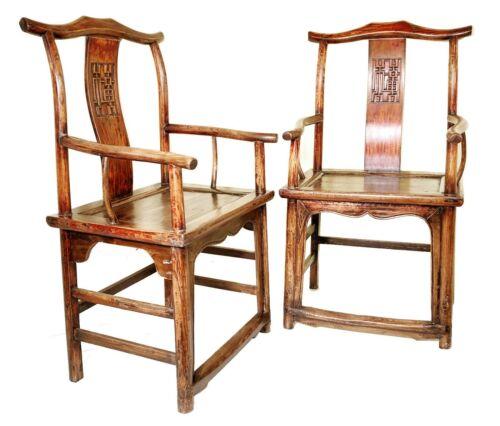 Antique Chinese Arm Chairs (5220) (Pair), High Back, Circa 1800-1849