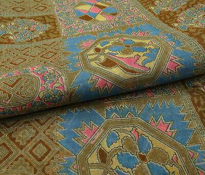 Pure Silk Olive Saree Floral Printed Vintage Used Craft Sari.-PS58407