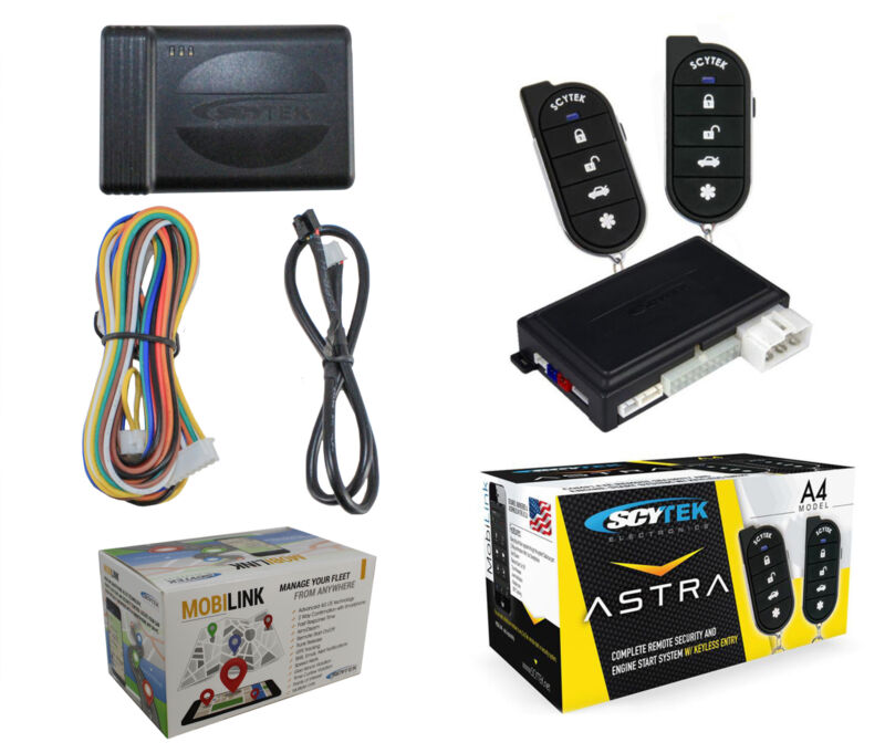 Car Security System, Remote Engine Start A4 + G3 Mobilink GPS Tracker w/ App