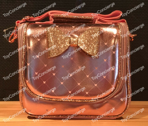 ^ DISNEY Store LUNCH BOX - MINNIE MOUSE - ROSE GOLD - SCHOOL LUNCH TOTE - NWT