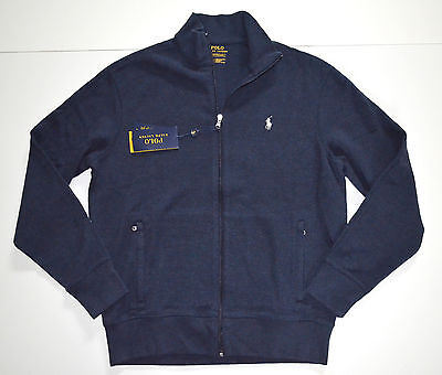 New Men's Polo Ralph Lauren Full Zip Track Jacket Sweatshirt Blue, M, Medium