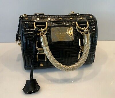 Vintage Gianni Versace Couture Doctor Bag Quilted Black