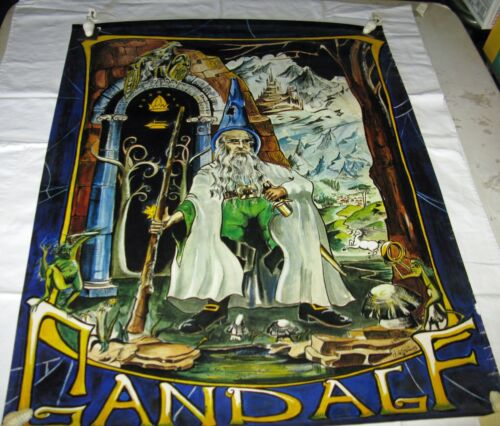 Vintage 1970 Lord of the Rings Gandalf Poster,de S Pernes,Hobbit,Very Rare