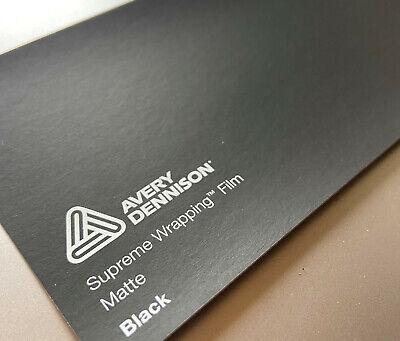 20,92€/m² Avery Dennison Supreme Wrapping Autofolie 50cm x 152cm Schwarz Matt