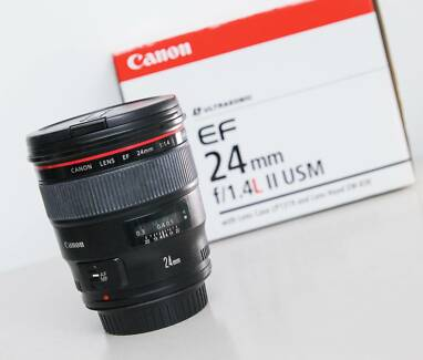 Canon 24 mm  f1.4 L II lens in excellent Condition