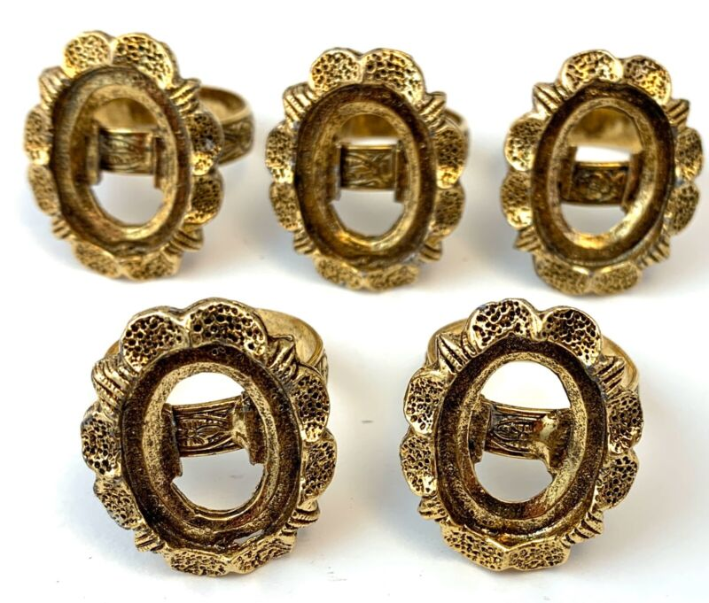 VINTAGE RING BLANK LOT VICTORIAN REVIVAL JEWELRY MAKING CRAFTS ADJUSTABLE