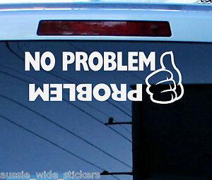 Funny 4x4 Car Stickers PROBLEM - PATROL LANDCRUISER Ford Holden Winch Diesel Ute