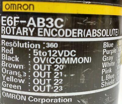 Omron E6f-ab3c-360 Absolute Rotary Encoder