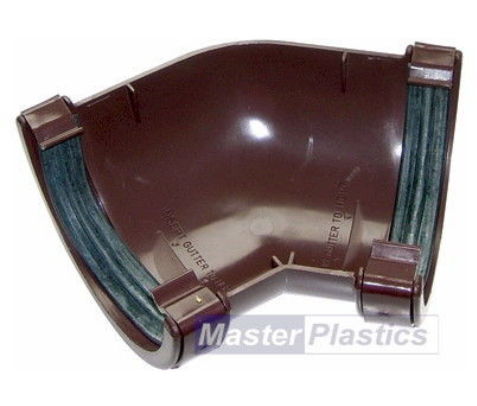 New Plastic Brown Round Gutter and Guttering Down Pipe 112mm Gutter /& 68mm Pipe