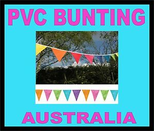 PLASTIC PVC 36.5M 120ft  Bunting Flags Pennants OUTDOOR CAR YARD PARTY