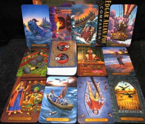 SEALED NEW ~ EDGAR ALLAN POE TAROT DECK & BOOK SET MYSTERIOUS & THE MACABRE